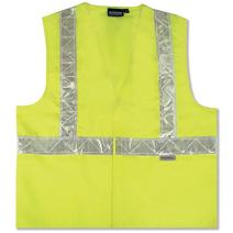ERB 14538 S17P Class 2 Safety Vest with High Gloss Trim, Lime, Medium
