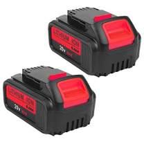 2Pack 6000mAh 20V DCB200 for Dawalt, Lithium-ion Battery for Dewalt DCB203 DCB204 DCB205 DCB205-2 DCB180 DCD985B DCD771C2 DCS355D1 DCD790B