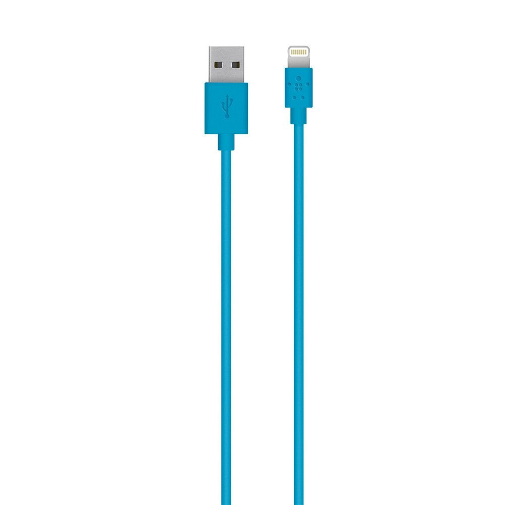 Belkin Lightning to USB Cable - MFi-Certified iPhone Lightning Cable for iPhone XS, XS Max, XR, X, 8/8 Plus and more (4ft/1.2m), Blue, Compatible with iPhone 11, 11 Pro, 11 Pro Max, XS, XS Max, XR, X, 8, 8 Plus and previous iPhone models with Lightning connector