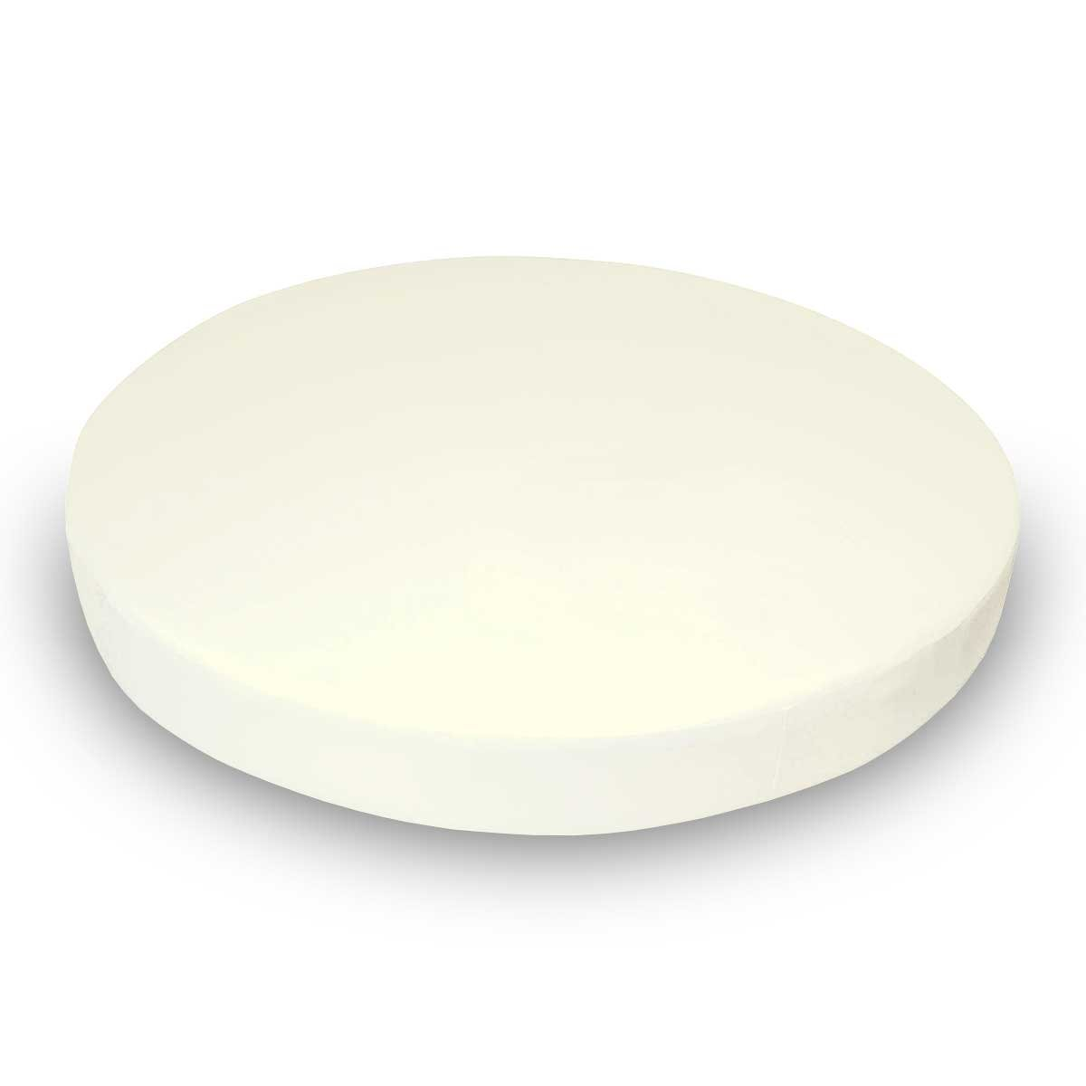 SheetWorld 100% Cotton Jersey Round Crib Sheet, Solid Ivory, 42 x 42, Made In USA