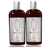 BeTheXtreme BTX daily use Sulfate Free Shampoo Conditioner Keratin Cure set with Argan, Hemp, Silk protect Color Enhance Hair Growth prevent Hair Loss (120ml/ 4 fl oz)