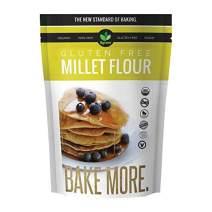 Big Green Organic Food- Organic Millet Flour, Gluten-Free, Kosher, Artisan Baking (5)