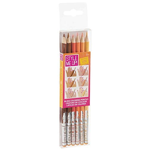 Style Me Up - Coloring Pencils for Girls and Boys - Set of 6 Skin Tone Colors - SMU-1496