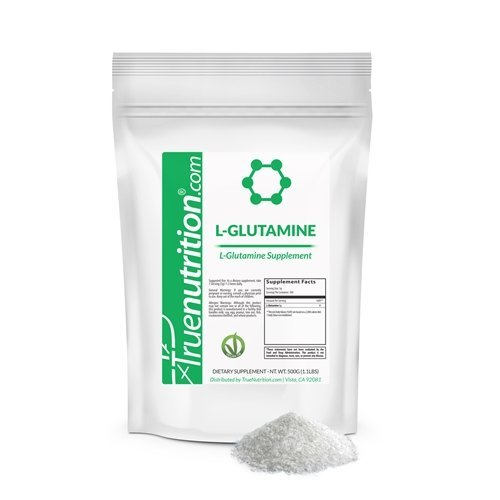True Nutrition - L-Glutamine Powder - Supports Intense Workout Recovery and Nitrogen Balance - Vegan Amino Acid Supplement - 500g