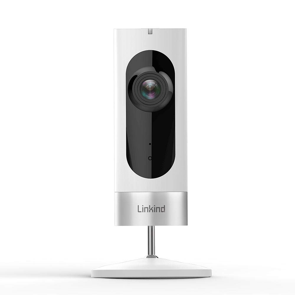 Linkind Indoor Security Camera, 1080p WiFi Smart Home Camera with Wide Angle Lens/Motion Detection/2-way Audio, IR Night Vision, MicroSD Support(Not Included), White