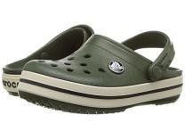 Crocs Kids' Crocband Clog, Forest Green/Stucco, 10 Toddler M