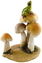 Top Collection Miniature Fairy Garden and Terrarium Statue, Frog on Mushrooms
