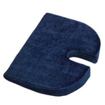 RELAXOBAK Deluxe Dual Layer Orthopedic Wedge Seat Cushion with Machine Washable Cover - Alleviates Pressure and Pain from Coccydynia, Sciatica and Hip Pain (Navy Blue Velour)