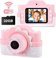 JOHURC Kids Digital Camera for Girls boy,Gifts for Boys Age 3 4 5 6 7 8, for Girls,Toys for Girls 4 5 6 7 8 Year Old,12MP HD Camcorders,Blue(32GB SD Card )…
