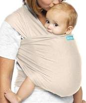 Moby Wrap Baby Carrier | Evolution | Baby Wrap Carrier for Newborns & Infants | #1 Baby Wrap | Baby Gift | Keeps Baby Safe & Secure | Adjustable for All Body Types | Perfect for Mom & Dad | Almond