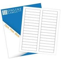 3.434 x 0.667 File Folder Labels - Pack of 300 Labels, 10 Sheets - Inkjet or Laser Printer - Online Labels