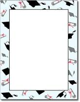 Grad Caps & Diplomas Graduation Stationery Paper - 80 Sheets