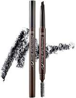 ETUDE HOUSE Drawing Eye Brow #6 Black | Long Lasting Eyebrow Pencil for Soft Textured Natural Daily Look Eyebrow Makeup