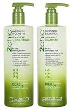 Giovanni 2chic Avocado and Olive Oil Ultra-Moist Shampoo and Conditioner, 24 Fluid Ounce