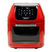 PowerXL Air Fryer Pro, Crisp, Cook, Rotisserie, Dehydrate; 7-in-1 Cooking Features; Deluxe Air Frying Accessories; 3 Recipe Books (6 QT Red)