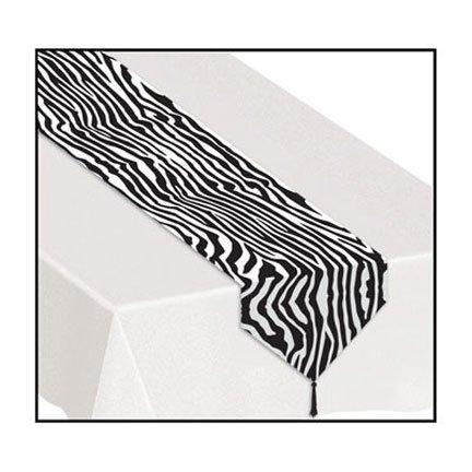 Beistle 57843 Printed Zebra Print Table Runner44; Pack Of 12