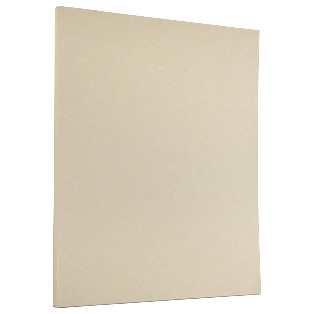 JAM PAPER Parchment 24lb Paper - 8.5 x 11 - Natural Recycled - 100 Sheets/Pack