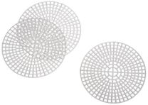 Darice 10-Piece Round Plastic Canvas Shape, 3-Inch, Clear