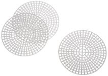 Darice 10-Piece Round Plastic Canvas Shape, 3-Inch, Clear