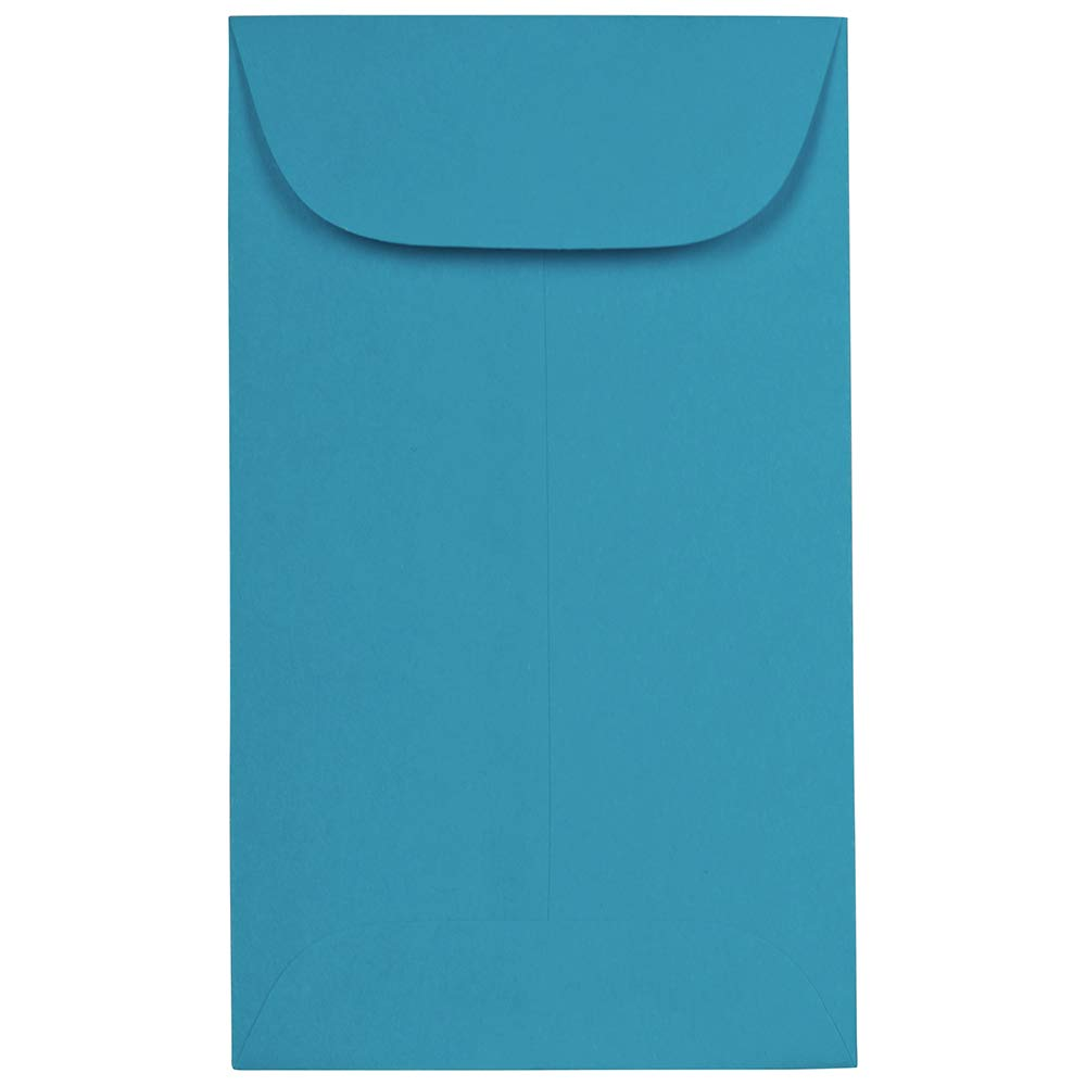 JAM PAPER #3 Coin Business Colored Envelopes - 2 1/2 x 4 1/4 - Blue Recycled - Bulk 250/Box