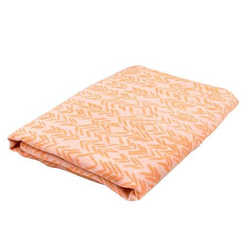 Oliver & Rain Girl Organic Muslin Swaddle Baby Blanket, Coral Chevron