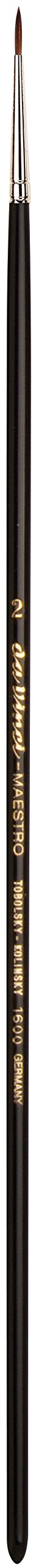 da Vinci Oil & Acrylic Series 1600 Maestro Oil Paint Brush, Round Kolinsky Red Sable, Size 2