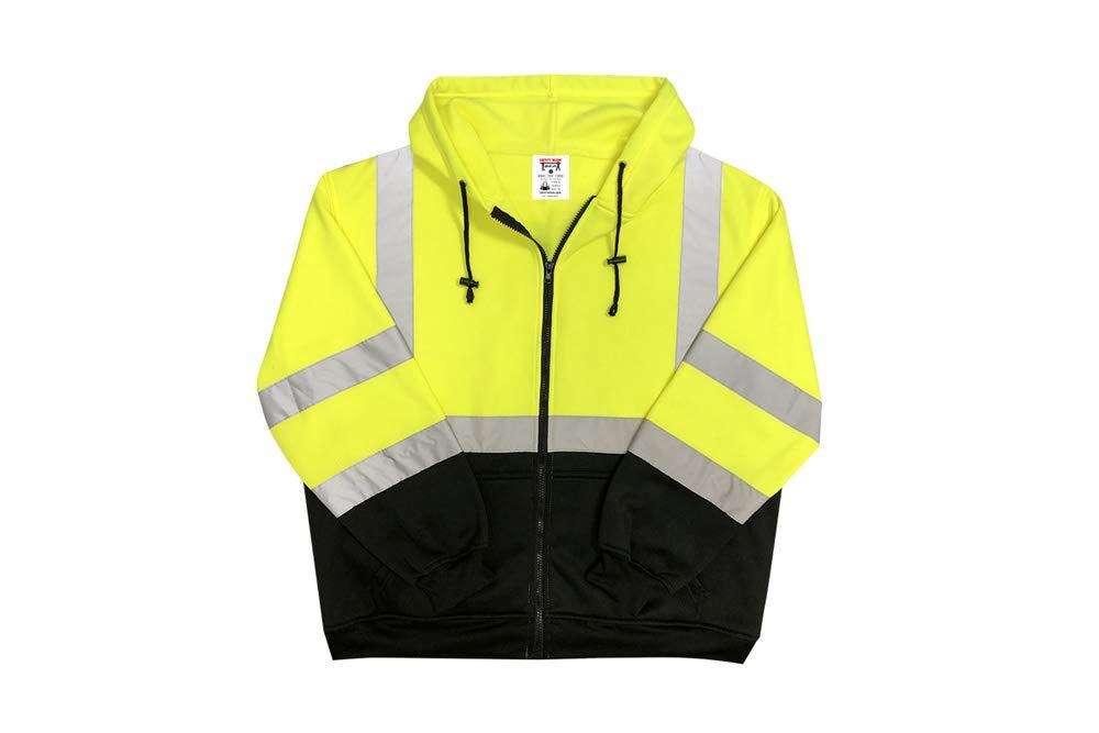 Safety Main Lightweight High Visibility Hooded Jacket, Medium