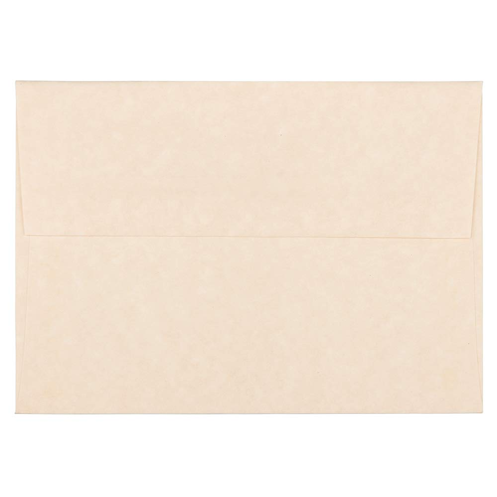JAM PAPER A6 Parchment Invitation Envelopes - 4 3/4 x 6 1/2 - Natural Recycled - 25/Pack