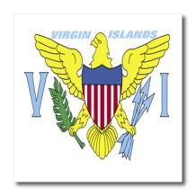 3dRose State Flag of Virgin Islands-Iron On Heat Transfer, 6 by 6-inch, for White Material (ht_45085_2)