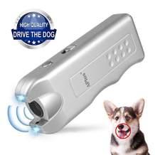 Geohee ELenest Handheld Dog Repellent, Ultrasonic Infrared Dog Deterrent, Bark Stopper + Good Behavior Dog Training
