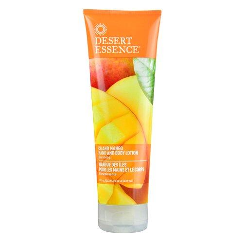 Desert Essence Island Mango Hand & Body Lotion - 8 Fl Ounce - Enriching - Aloe Vera - Jojoba & Coconut Oil - Shea Butter - Delightful Scent - Moisturizes & Refreshes Skin