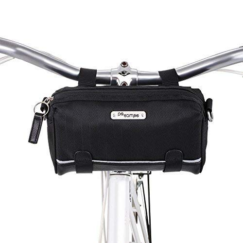 Po Campo Kinga Handlebar Bike Bag Purse | Front Bicycle Bag That Converts to a Crossbody Bag | Weatherproof Water Resistant | Multiple Colors