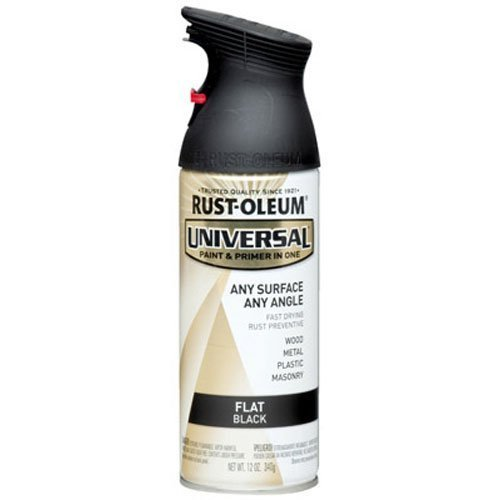 Rust-Oleum 245198 Universal All Surface Spray Paint, 12 oz, Flat Black - 6 Pack