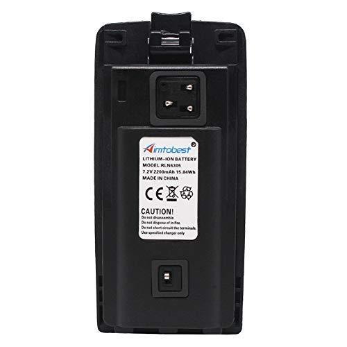 RLN6305 2200mAh Li-ion Battery Compatible for Motorola CP110 RDM2070D RDU2020 RDU2080D RDU4100 RDU4160D RDV2020 RDV5100 Radio