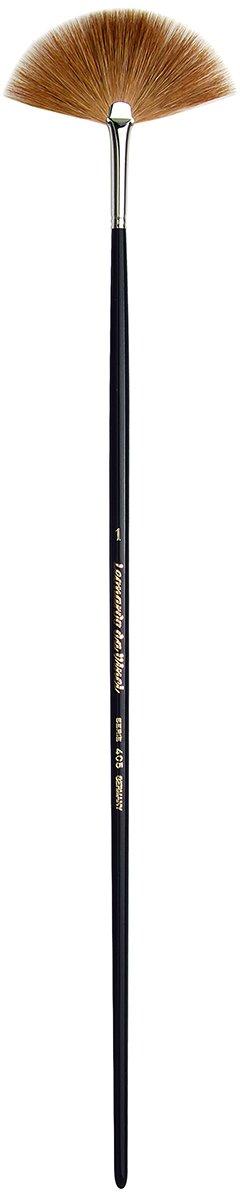 da Vinci Varnish & Priming Series 405 Fan Blender Brush, Kolinsky Red Sable with Black Polished Handle, Size 1
