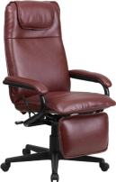 Flash Furniture High Back Burgundy LeatherSoft Executive Reclining Ergonomic Swivel Office Chair with Arms, BIFMA Certified
