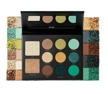 Milani Gilded Jade Eyeshadow Palette - Eye Shadow Palette For Intense Color Pop, 2-in1 Palette With Eyeshadow Shades and Highlighter Shades