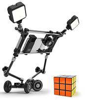 DREAMGRIP Still & Motion Camera Support Kit   Universal Modular kit with Handheld Stabilizer and Tabletop Mobile Rolling Slider Dolly