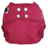 Imagine Baby Products All-in-Two Shell Snap Diaper Cover, Raspberry