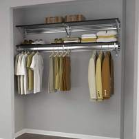 "Arrange A Space Arrrange a Space RCMAY Better 32"" Top Single Shelf/Hang Rod Kit Espresso Closet System"