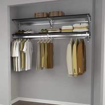 "Arrange A Space Arrrange a Space RCMAY Better 32"" Top Single Shelf/Hang Rod Kit Espresso Closet System"