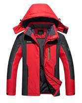 TACVASEN Men's Outdoor Jackets-Lightweight Mountain Climbing Jackets with Hood, Red, S