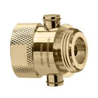 Shower Shutoff Valve - Solid Metal – Virtually No Pressure Loss! Push-Button Trickle Valve Easily Controls the Flow of Water or Shuts It Off to Just a Trickle - Polished Brass