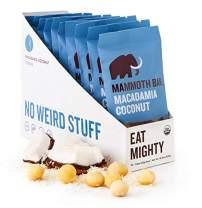 Macadamia Coconut Organic Bar by Mammoth Bar, No Weird Stuff, 10-12g Protein, Gluten Free and Raw, 1.8 Oz. Bar (10 Bars)