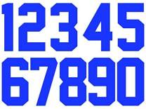 8 Inch Heat Transfer Numbers Kit 0 to 9 for Sports Jerseys T-Shirt Iron on Numbers for Jersey Football Baseball (Blue)