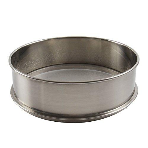 "Vollum Stainless Steel Flour Sifter 16.5"" Diameter x 2.88"" High; Mesh-Hole Size 0.3mm"