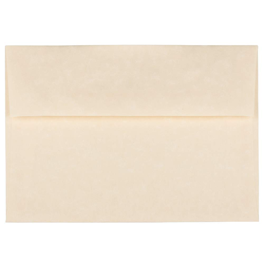 JAM PAPER A7 Parchment Invitation Envelopes - 5 1/4 x 7 1/4 - Natural Recycled - 25/Pack
