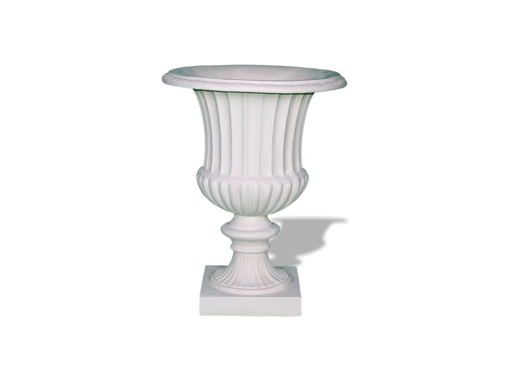 Amedeo Design ResinStone 2509-27L Classic Ribbed Urn, 28 by 28 by 34-Inch, Limestone