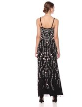 Adrianna Papell Women's Floral Beaded Blouson Gown