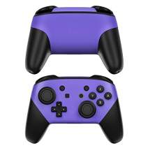Solid State Purple Decalgirl Skin Sticker Wrap Compatible with Nintendo Switch Pro Controller